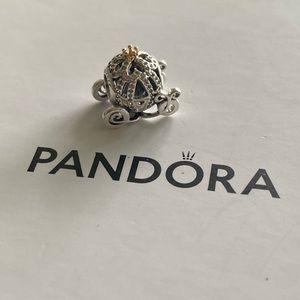 Pandora Two Tone Cinderella Carriage Charm